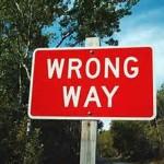 right wrong way