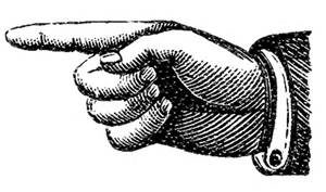 pointing finger